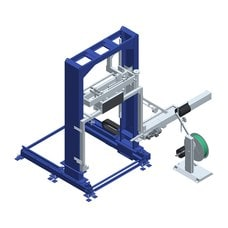 Вертикальная упаковочная машина обвязки лентой OMS 08RP Movable