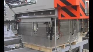Упаковка методом стретч худ ячеистого бетона на машине OMS IS43