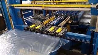 Упаковка стального листа в стретч пленку AREA Ring250 Italy