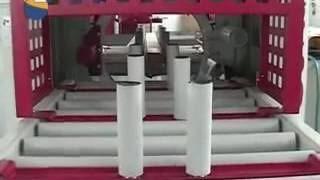 Упаковка продукции на кольцевом обмотчике в стретч пленку AREA RING 40