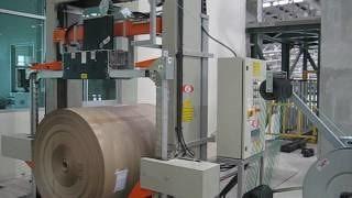 Упаковка рулонов бумажной продукции на машине ОМС RG08S