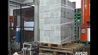 Эффективный способ упаковки газосиликата на паллетообмотчике ОМС AV620