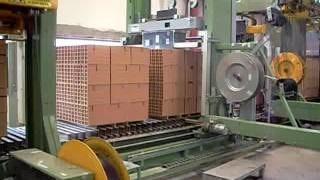 Передвижная стреппинг машина OMS RG08 упаковка кирпича