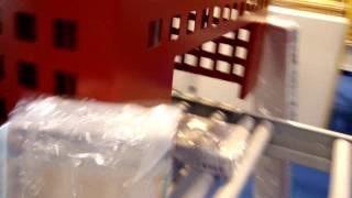 Упаковка доски в стретч пленку на автоматической машине AREA Ring40