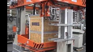 Горизонтальная обвязка продукции РЕТ лентой на машине OMS 06RG (Италия)
