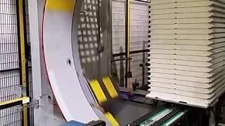 Упаковка гипсовой плиты на машине AREA Ring180